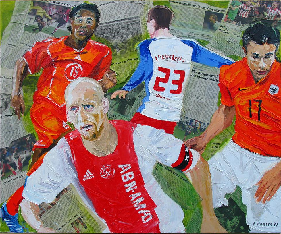 Ajax olieverfschilderij Jaap Stam